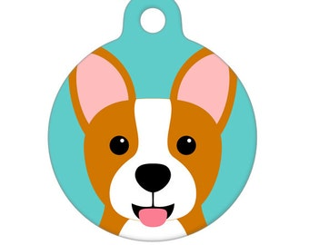 Pet ID Tag - Corgi Pet Tag, Dog Tag