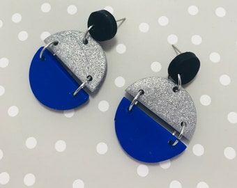 Blue & Silver Sparkles Dangle
