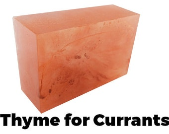 Thyme For Currants - Handmade Soap Bar (currant and thyme scent) //vegan, made in Canada//