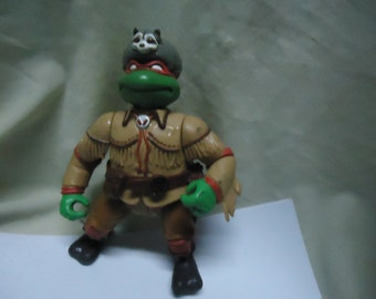 Vintage 1992 TMNT Teenage Mutant Ninja Turtles Sewer Scout Action Figure Toy by Mirage Studios, Playmate, collectable