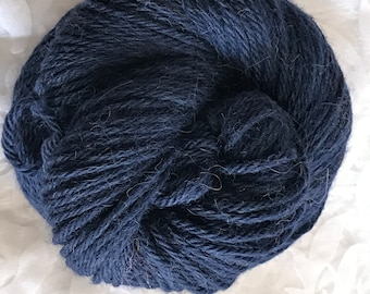 "110yds Worsted Alpaca-Fine Merino Yarn 50g - ""In the Navy"""