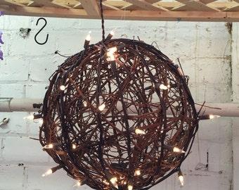 """10"""" Lighted Grapevine Balls"""