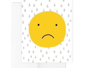 Smiley Sad Greeting Card