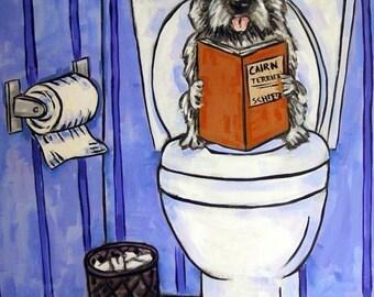25% off Cairn Terrier, Bathroom art, Dog PRINT,   modern, dog, dog art, cairn terrier print