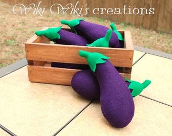 Felt Food Eggplant