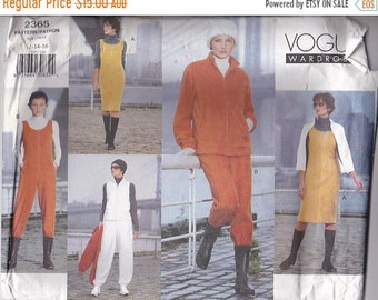 ON SALE Vogue Sewing Pattern - No 2365 Jacket, Vest, Jumper, Jumpsuit, Pants  Size 12-16 Factory folded and complete