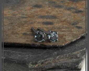 Genuine Swiss Blue Topaz Studs, Handmade Post Earrings, Post Earrings, Stud Earrings, Sterling Silver, Birthstone Earrings, Gift Earrings
