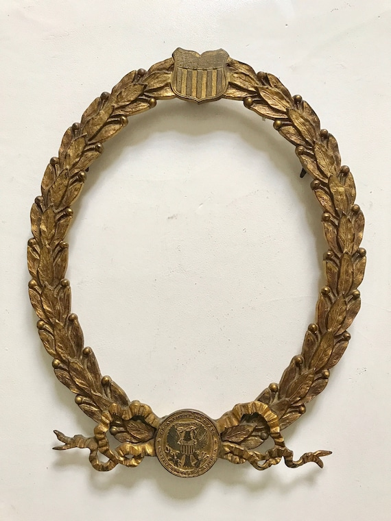 1876 United States Department of State Gilded Bronze Frame