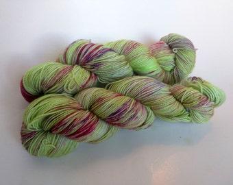 Annihilation on Max 80/20 SW Merino Nylon Hand dyed fingering weight sock yarn