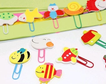 Playful fun paperclips 12 animals and other