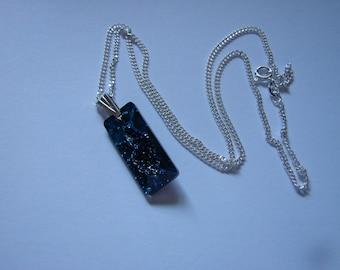 Swarovski Growing Crystal Bermuda Blue Pendant, Sterling Silver Chain