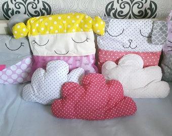 Crib Bumper, Baby Bumper, Animal Pillows, Crib Bedding