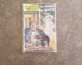 Vintage The Woman In White Wilkie Collins Classics Illustrated Comics No 61