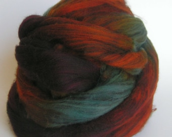 Fiber Roving Top Merino Tencel GRAND CANYON Hand Painted Limited Edition PhatFiber Feature Wool Spin Felt Craft Roving 4 ounces