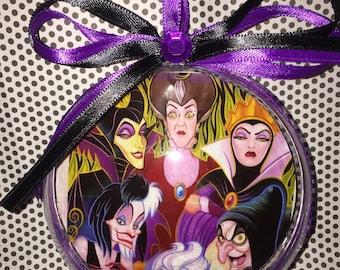 Disney villians themed ornament