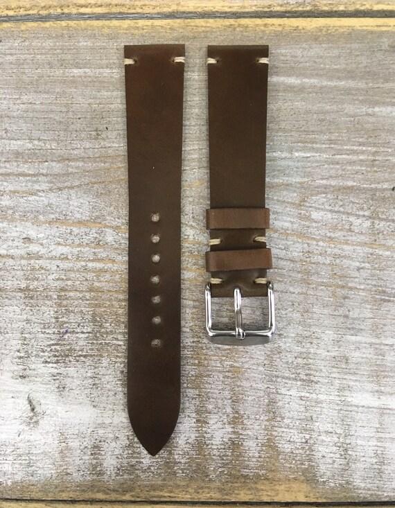 18/16mm Dark Whiskey Horween Shell Cordovan watch band