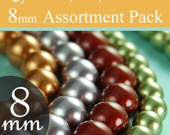 Swarovski beads assorted beads 8mm pearl beads style 5810 You pick the colors, packages of 10 (100 total)