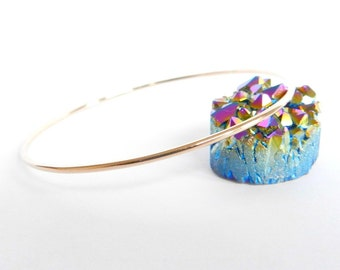 Rose Gold Bangle Polished Bracelet