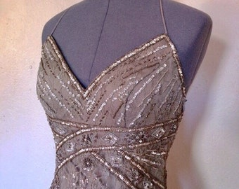 1920s Silver Screen Siren Dress