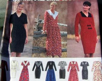 1994 simplicité modèle 9137 concevoir votre propre robe / Robe basques / miss petite taille8, 10, 12 non-cut et toutes les instructions de modèle