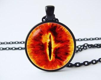 Eye sauron necklace Eye sauron jewelry Eye sauron pendant Eye necklace Evil eye Eye jewelry Fantasy eye Legend necklace Fantasy necklace
