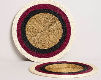 Raspberry Stripe Classic Placemat