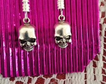 SKULL, Silver, EARRINGS, Jewellery