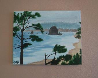 Haystack Rock on the Oregon Coast
