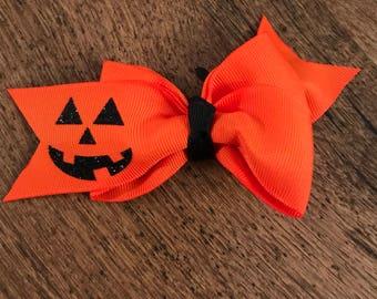 Jack-o-lantern Bow