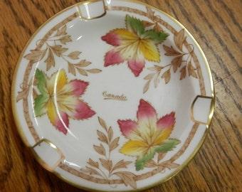 "vintage Royal Chelsea English Bone China ash tray ""Canada"""