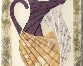 Handmade Thinking of You Greeting Card - Iris folded Pitcher v.10