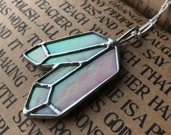Saved for Brenna*** Crystal Necklace // Stained Glass Jewelry // Crystal Jewelry // Love and Light Pendant // Healing Crystal Necklace