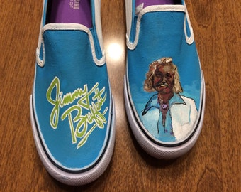 Hand Painted Jimmy Buffett Shoes