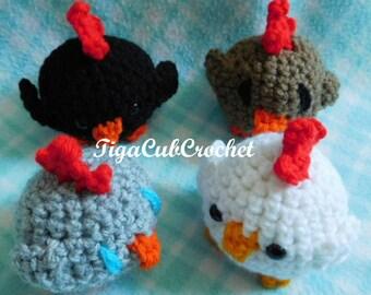 Crochet Mini Chicken Chick Bird Farm Animal Cute Amigurumi Plush Made To Order