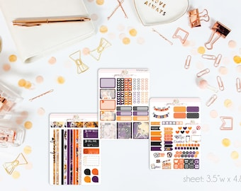 All Hallows MINI Weekly Kit // 130+ Matte Planner Stickers // Perfect for your Personal Planner // WKM0340