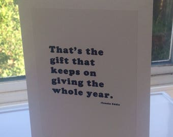 Greeting Card, Birthday card, Humorous card, Christmas card, foldable card