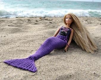 Pattern, Knit Mermaid Tail for Dolls
