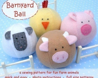 Barnyard Ball -  immediate download - PDF sewing pattern
