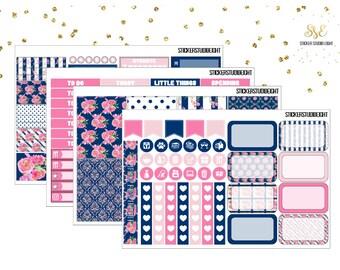 020: Navy-Pink Roses