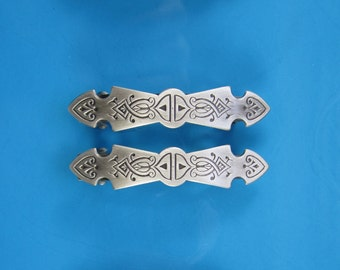 French Barrettes Set of Two 50mm- Hair Clips- Hair Accessories- Small Barrettes-