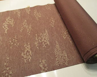 Japanese vintage silk kimono fabric - Available by the metre - Mauve and Ivory