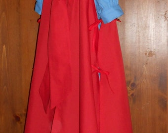 Childrens Red Cloak  - Little Red Riding Hood - Hooded Cape - Cosplay costume - CLOAK ONLY - Kids Costume