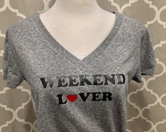 WEEKEND LOVER Tee  LARGE