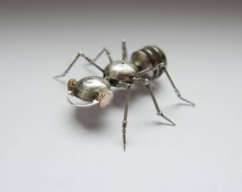 Watch Parts Insect Sculpture Ant No 3 Recycled Clockwork Insect Figurine Stems Metal Arthropod A Mechanical Mind Gershenson