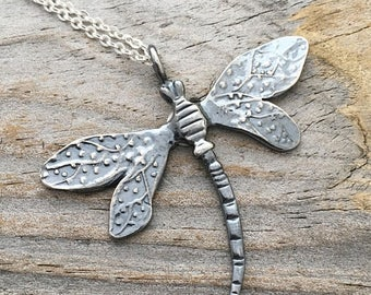 Sterling Silver Dragonfly Necklace Handmade Wild Prairie Silver Jewelry Artist Joy Kruse