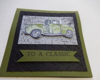 Classic Truck Birthday Card