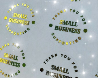 Thank you for supporting small business foil stickers