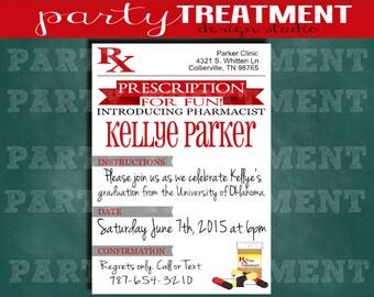 Pharmacy Graduation Invitation
