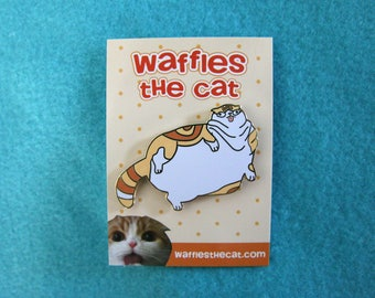 Fat Cat Cute Enamel Pin
