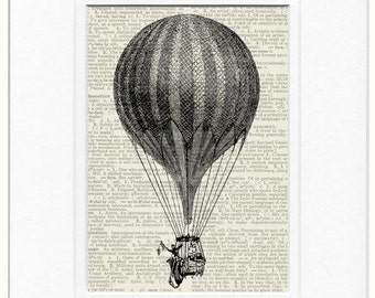 18oo's flying balloon II print